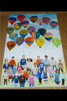 Balloons painted by class