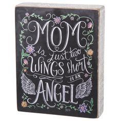 Primitives by Kathy Mom, Two Wings Chalk Wooden Sign at The Paper Store