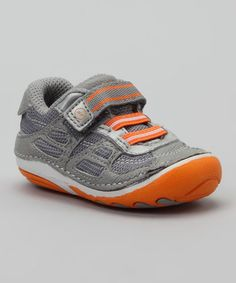 Take a look at this Gray & Orange SRT SM Conner Sneaker by Stride Rite on #zulily today!