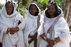 Terhas, Almaz and Mebrat - Expo compound Asmara Eritrea.