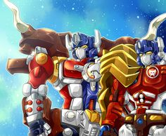 Big Convoy and Lio Convoy by mucun on DeviantArt
