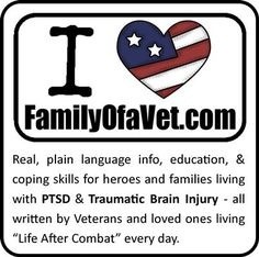 FamilyOfaVet.com - Learn about PTSD, TBI, and life after combat!