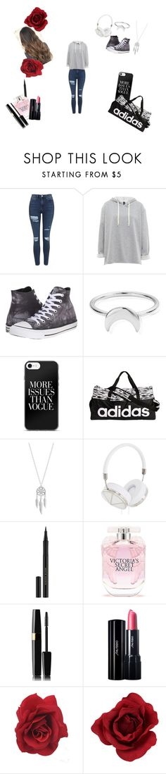 """""""Random Outfit #3"""" by galaxy-diamond-57 ❤ liked on Polyvore featuring Topshop, Converse, ChloBo, adidas, Lucky Brand, Frends, Kevyn Aucoin, Victoria's Secret and Shiseido"""