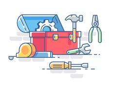Toolbox by Kit8 #Design Popular #Dribbble #shots