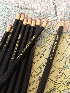 It's Business Time Pencil 6 Pack | Earmark Social | $ 8.50