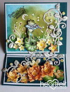 Heartfelt Creations | Fiddlen Frog Easel Card