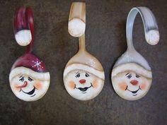 Painted Snowman Soup Spoon Christmas Ornament by SantaHeaven