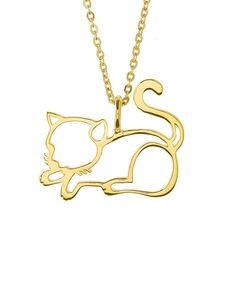 This cat necklace looks so sweet!