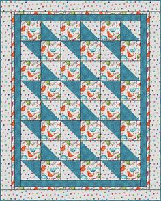 Boxes and Bows 3 Yard Quilt Pattern Quilt Baby, Lap Quilts, Scrappy Quilts, Small Quilts, Patchwork Quilting, Sailboat Baby Quilt, Quilting Tutorials, Quilting Projects, Quilting Designs