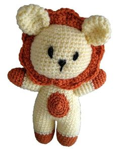 """Name: LeoHeight: 7.5"""" (19cm)Birthday: 19th JulyLikes: sleeping, his mane, tummy ticklesDislikes: loud noises, rhubarb, cloudsYou will need:DK yarn – less than 100g in total (yellow & orange)E/3.5mm hookToy stuffingScissorsSewing needleStitches used:ChainAdjustable Ring/Magic circleSlip stitchSingle crochetIncreaseDecreaseNote: This pattern is written in US crochet terms. Rounds are worked in continuous spirals without joining."""