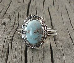 Navajo Dry Creek Turquoise Ring Size 9 Handcrafted, Navajo Adjustable Ring, Turquoise Ring, Southwestern Ring, Vintage Gift Jewelry