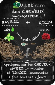 L'automne et votre vie active ont eu raison de vos cheveux ? Faites comme R… The autumn and your active life were right for your hair? Do like Rapunzel: she advised us basil essential oil and it works! Basil Essential Oil, Essential Oils, Rapunzel, Beauty Care, Diy Beauty, Diy Hair Treatment, Curly Hair Styles, Natural Hair Styles, Beauty Hacks For Teens