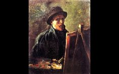Self-Portrait with Dark Felt Hat at the Easel. 1886