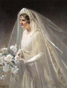Frank Owen Salisbury (1864 - 1962) - The bride, Sylvia, 1950