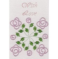 Quilt Block Bead Roses - Stitching Cards