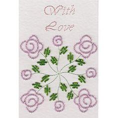Quilt Block Bead Roses - Stitching Cards