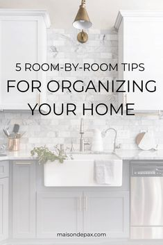 5 Room by Room Organization Tips for the Whole House – Maison de Pax – Home Office Design On A Budget Kids Bedroom Organization, Kitchen Cabinet Organization, Home Organization Hacks, Organizing Your Home, Organizing Tips, Industrial Kitchen Design, Clutter Free Home, Storage Solutions, Storage Ideas