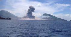 Смотрите. Ударная волна от извержения вулкана
