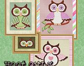 Counted Cross Stitch Pattern Pink Owl Cross by StitchXCrossStitch