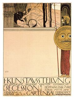 Athena Secession poster by Gustav Klimt with