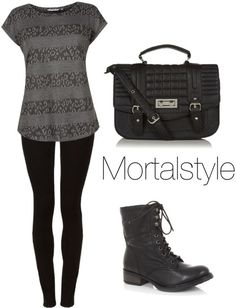 Isabelle Lightwood inspired outfit | Clary Fray Inspired outfit from New Look by tessgray featuring a short ...