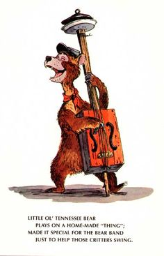 A Disneyland postcard for the Country Bear Jamboree with an original Marc Davis sketch that was used for the basis of the audio-animatronic design. Disney Parks, Walt Disney, Bear Tumblr, Mickey Mouse, Disney Love, Disney Stuff, Disney Nerd, Disney Dream, Country Bears