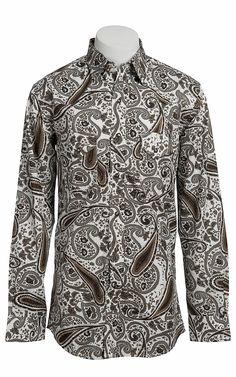 Larry Mahan Mens Long Sleeve Western Snap Shirt LMX1330704