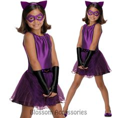 CK391 Catwoman Tutu Batman Gotham Hero Girls Child Book Week Costume Fancy Dress