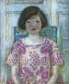 Frederick Frieseke (American artist, 1874-1939) Portrait of Frances