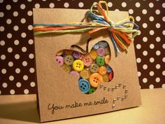 Smile Butterfly Buttons Card by Simone Naoum, via Flickr