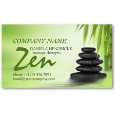 39 best salon spa business cards images on pinterest spa tranquil zen spa massage therapist design business card accmission Image collections