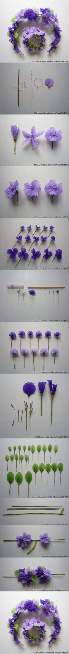 DIY Wire Nylon Flowers