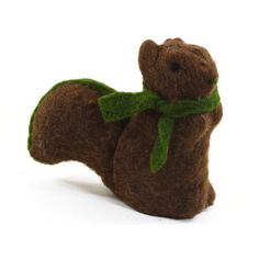 SheasWildflowers Squirrel with Scarf Figurine