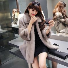 Find More Fur & Faux Fur Information about 2015 real Mink Fur Female The Sable Long Mink Fur Coat Women's Clothing  Noble fashion luxury Slim Long Mink Fur Female Coat,High Quality fur pillow,China fur trim down coat Suppliers, Cheap fur stole with head from Lady's shopping mall on Aliexpress.com