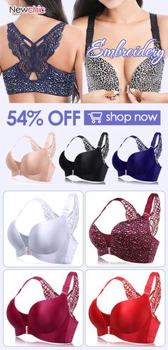 5a722a8b8e Butterfly Embroidery Front Closure Wireless Adjustable Gather Soft Bras  bra   dot  pattern  sexy