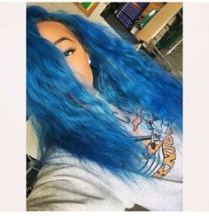 You can say iam feelin Blue hair lately Weave Hairstyles, Pretty Hairstyles, Men Hair Color, Hair Colors, Extensions, Natural Hair Styles, Long Hair Styles, Hair Extension, Hair Laid