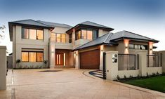 Change layout of driveway move garage remodel house modern house design, dream home design, Dream House Exterior, Dream House Plans, Modern House Plans, Modern House Design, Dream Home Design, Facade House, Home Builders, Building Design, Modern Architecture