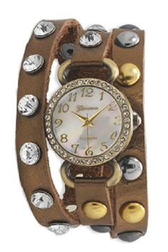 Geneva Wrap Around Watch - Faux Peau Design from Ava Adorn