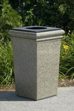 outdoor garbage can trash can - Decorative Trash Cans