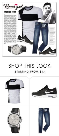 """""""Rosegal"""" by nena137 ❤ liked on Polyvore featuring NIKE, Gucci, Versace, men's fashion and menswear"""