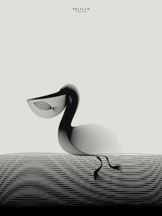 Designer basé à Milan, Andrea Minini vient de terminer une nouvelle série d'animaux illustrés par des effets de texture moiré. Animals in Moiré est une série d'illustrations vectorielles basée sur l'outil Illustrator. L'objectif de l'artiste était d'obtenir des formes complexes et de la profondeur à partir de quelques lignes. Un défi remporté haut la main. Si vous êtes intéressés, beaucoup d'entre elles sont disponibles en tirage dans My Modern Shop.
