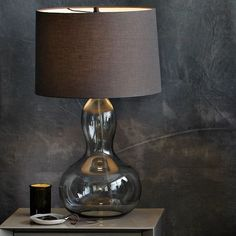 Fancy - Gourd Table Lamp - Charcoal