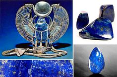 Lapis lazuli....not used in modern jewlery as often as it should be, in my humble opinion.