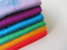 Rainbow silk set raw sink bridal shantung raw silk fabric number 749  - 1/4 yard…