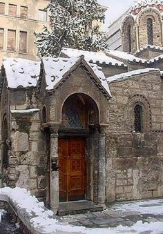 Snowy.. Kapnikarea Church, Athens