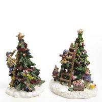 Children Decorating Tree Display Indoor Christmas Display Accessory