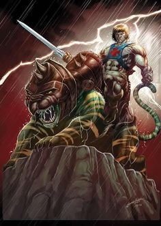 Incredible fan art... He-Man & Battlecat!