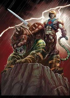 Incredible fan art... He-Man & Battlecat!