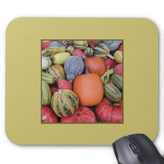 Pumpkin Harvest R02.1.2.2 Mouse Pad - thanksgiving day family holiday decor design idea