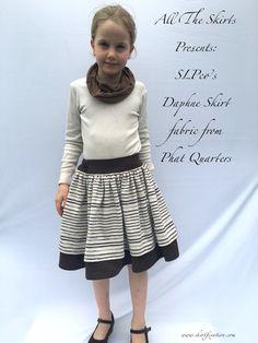 Daphne Skirt sewn by Skirt Fixation. Sewing Tutorials, Sewing Patterns, Girl Skirts, Pillow Tutorial, Layered Skirt, Sewing Toys, Midi Skirt, Fun